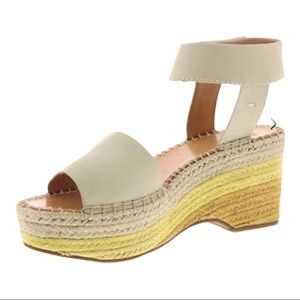 Frye and Co. Amber Espadrille Wedge Yellow 8.5 M